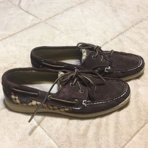 Sperry Leather Brown TopSiders